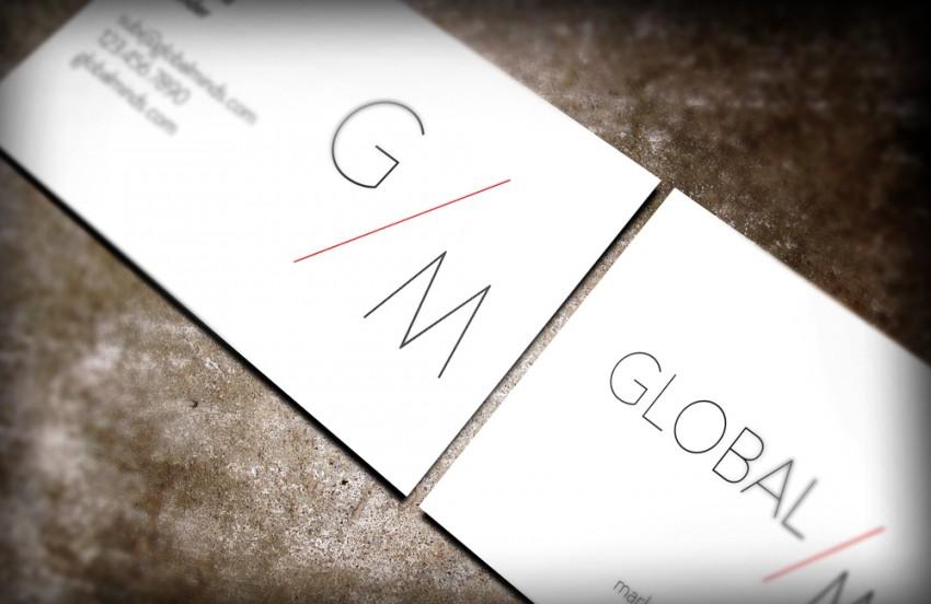 global minds business cards front back