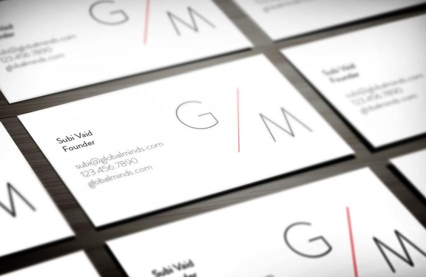global minds business cards back
