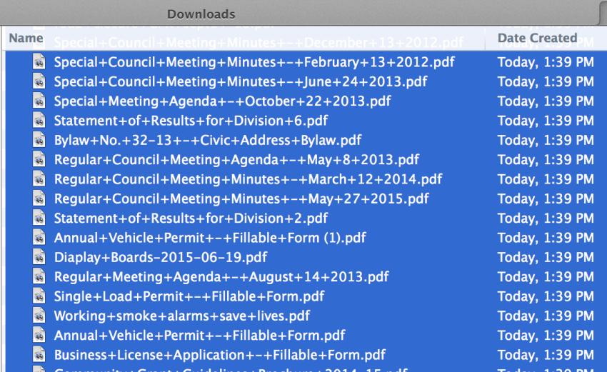 batch download squarespace files
