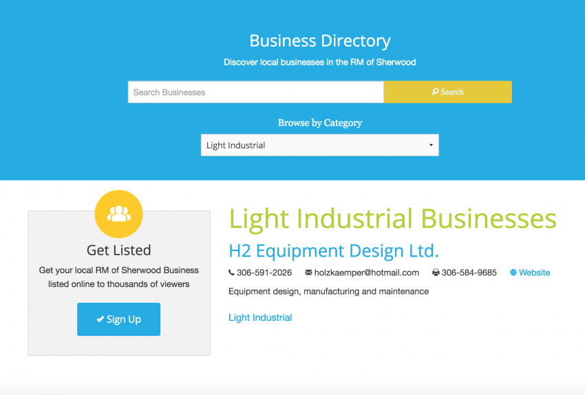 business directory web design