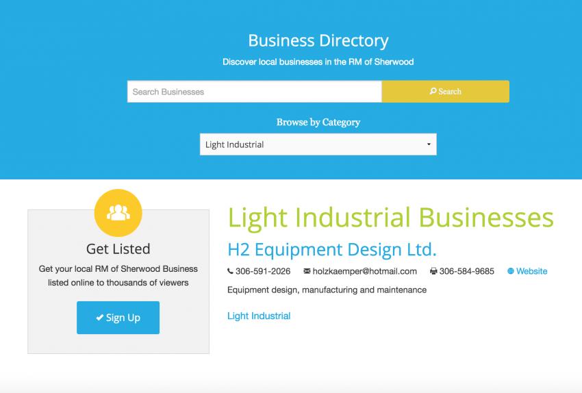 business directory web design